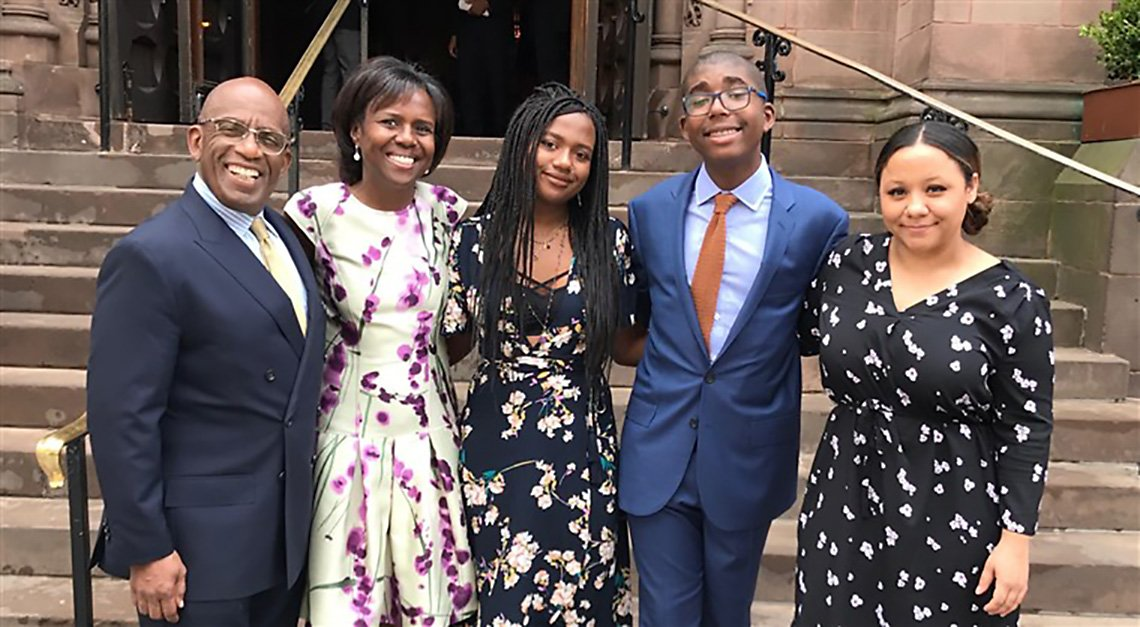 Al Roker plus Deborah Roberts and the Roker Family