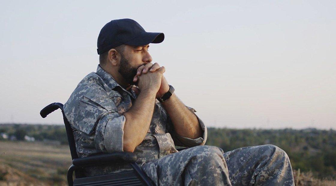 Veteran in Whellchair in LifeAid Documentary