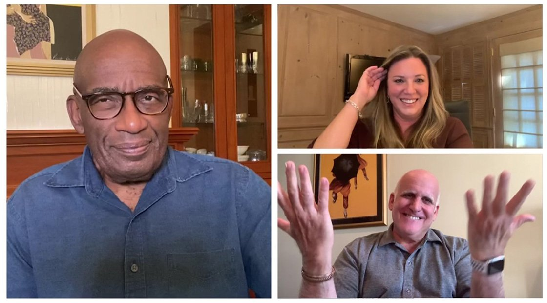 Al Roker, Rick Angeli and Erica Rubach